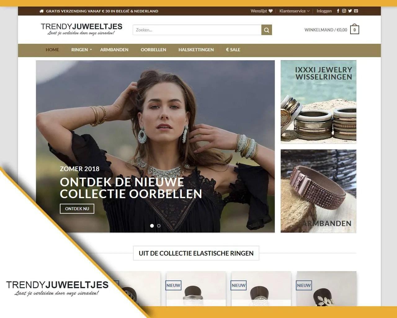 Webshop Trendy Juweeltjes - Buitengewoon Communicatie Averbode