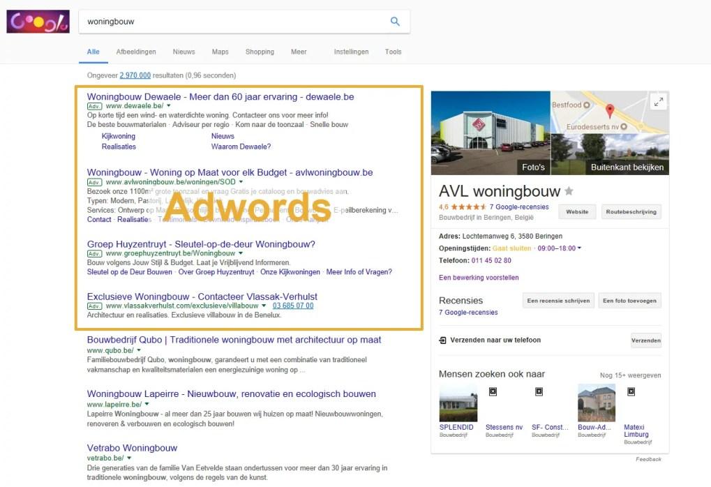 e2b92a0510f Google Adwords uitbesteden met regionaal resultaat | Buitengewoon