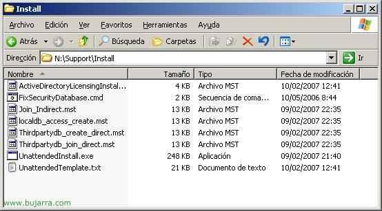 Instalación desatendida de Presentation Server 4.x
