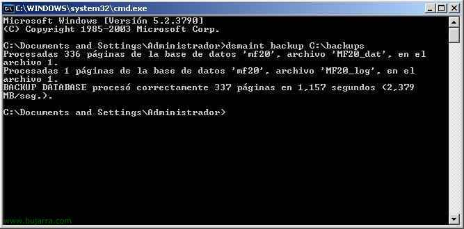 Citrix: Hacer backup o restaurar la BD MSDE