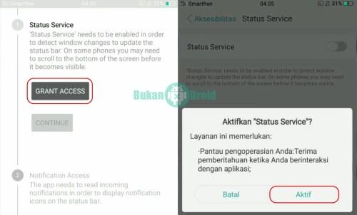 Cara Menampilkan Notifikasi Status Bar Oppo F3