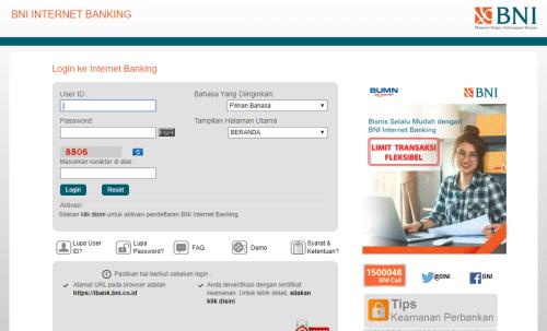 Melihat Saldo BNI Dari Internet Banking