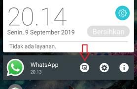 blokir notifikasi whatsapp