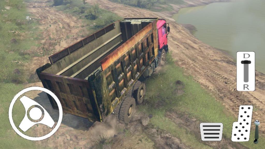 Truck Driver Operation Sand Transporter