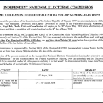 INEC 2019 Election Timetable: List of Activities Scheduled for 2019 General Election.