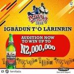 Goldberg Nigeria Talent Hunt 2018 – Audition Venue and Dates