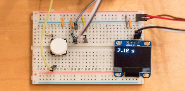 Components on a breadboard