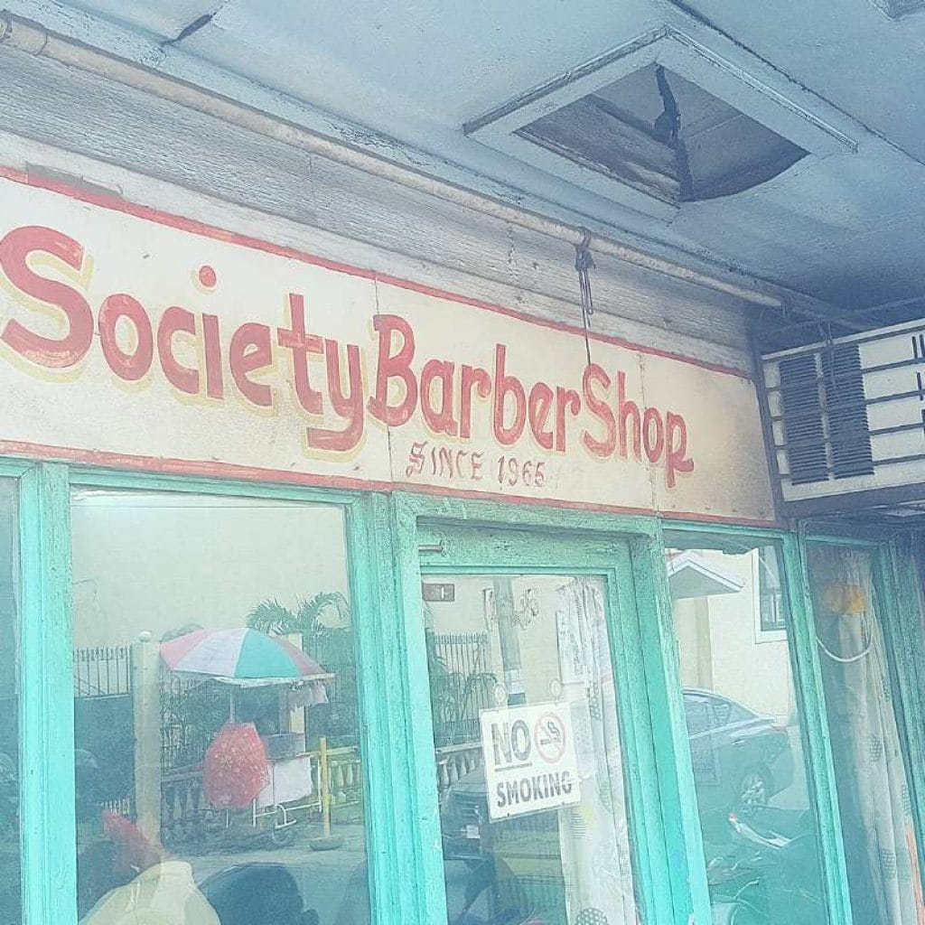 Hand-painted Signage of Society Barbershop Malolos since 1965