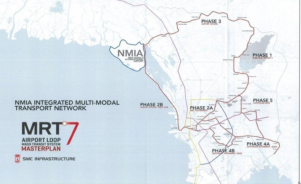 Bulacan airport MRT 7 master plan