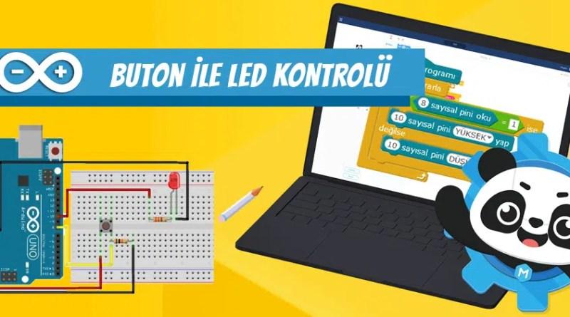 arduino buton ile led