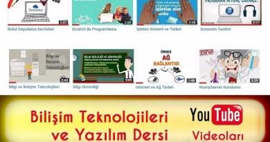 bilişim teknolojileri ders videoları