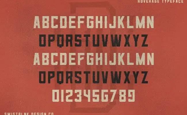 hoverage-font