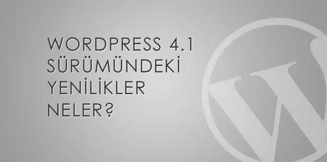 wordpress 4-1 yenilikler