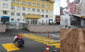 Yollarda betonlama çalışmaları sürüyor