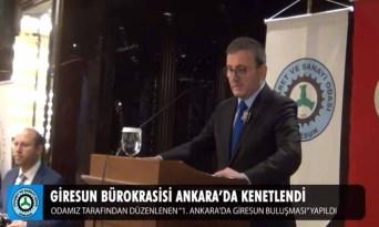 Giresun Bürokrasisi Ankara'da Kenetlendi