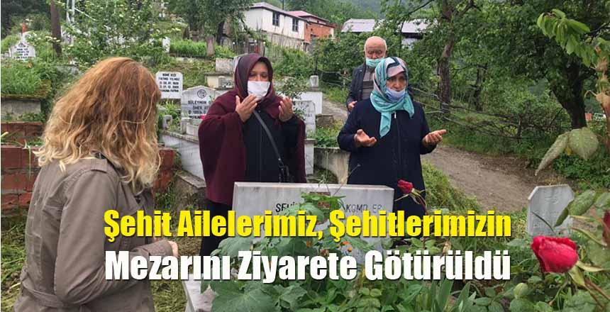 Şehit Ailelerimiz, Şehitlerimizin Mezarını Ziyarete Götürüldü