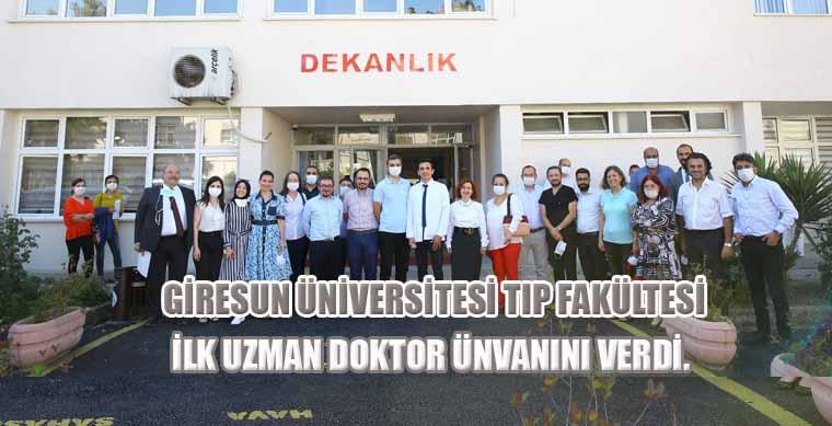 Tıp Fakültesi İlk Uzman Doktor Ünvanını Verdi…