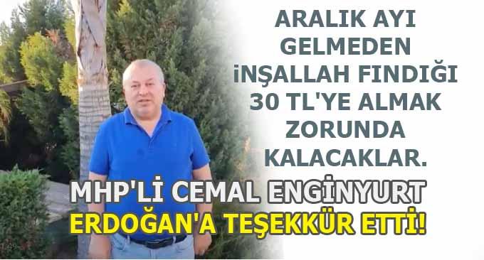 MHP'li Enginyurt'dan Erdoğan'a Fındık Teşekkürü