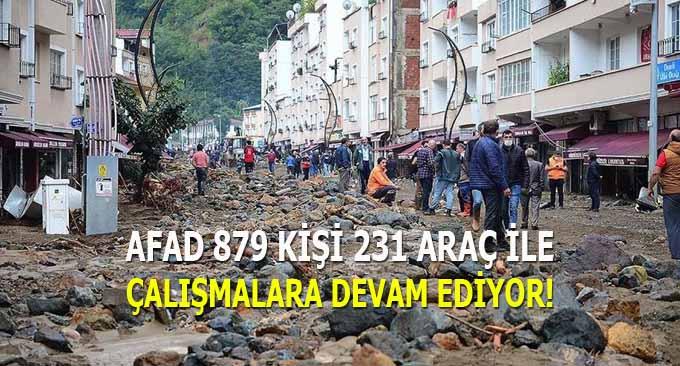 AFAD 879 Kişi 231 Araç ile Çalışmalar Sürüyor!