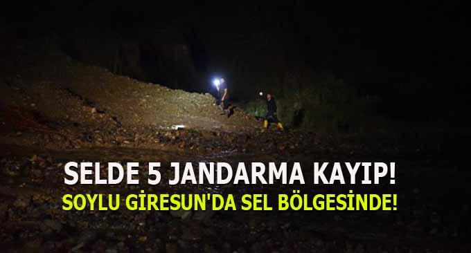 Giresun'da Selde 5 Jandarma Kayıp!