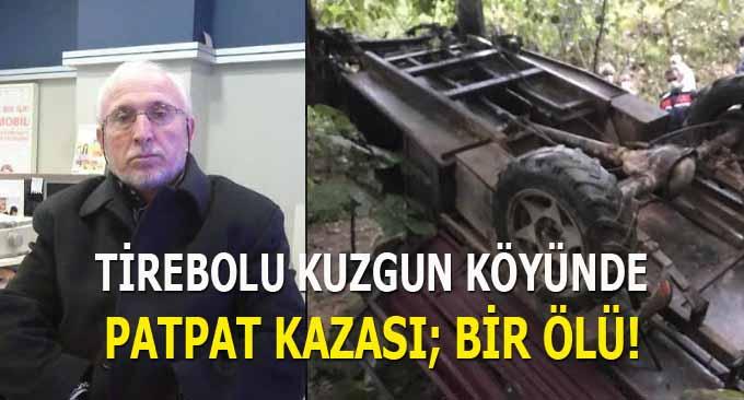 Tirebolu Kuzgun Köyünde Patpat Kazası; Bir Ölü