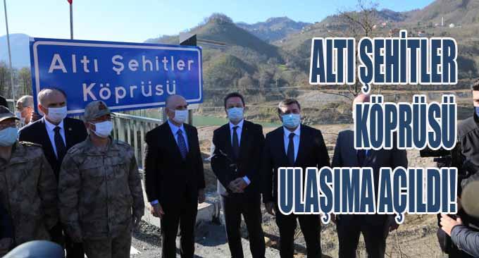 Altı Şehitler Köprüsü Ulaşıma Açıldı!