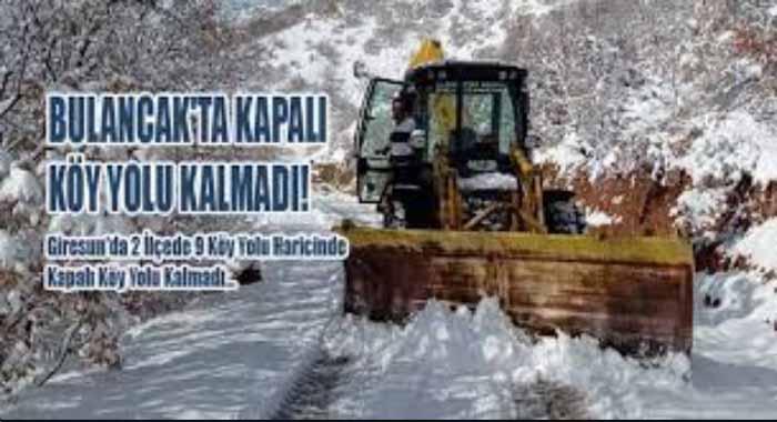 Bulancak'ta Kapalı Köy Yolu Kalmadı!
