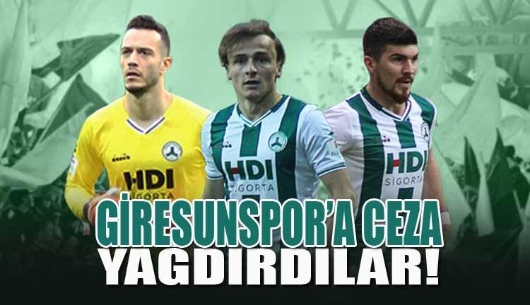 Giresunspor'a Ceza Yağdırdılar!