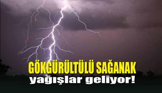 Gökgürültülü Kuvvetli Sağanak Yağış Geliyor!