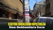 Elektrik Direklerine Yapıştırılan İlan-Reklamlara Ceza