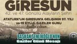 Başkan Şenlikoğlu'nun Gaziler Günü Mesajı