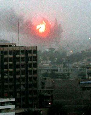 Air strike Baghdadm last week March 2003