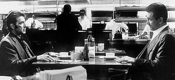 Лосанжелиско ченге (в ролята Ал Пачино) се сблъсква лице в лице с най-хитрия престъпник в града (Робърт Де Ниро). Героят на (Ал Пачино) Винсент Хана, е един от най-добрите полицаи, ръководител на отдел