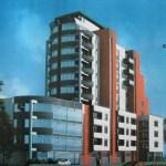 Завършен вид на показаната горе сграда. /компютърно изображение/