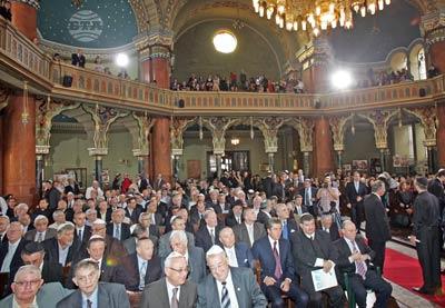 София, 9 септември 2009 В Централната софийска синагога се проведе официална церемония по повод 100 години от освещаването и. Пресфото - БТА снимка: Владимир Шоков