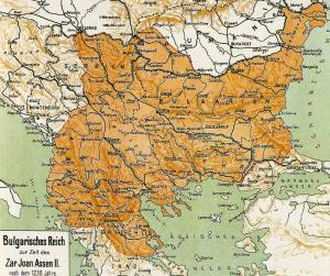 България е била на три морета. Всички знаем със сигурност, че такива граници българската държава е имала при царете Симеон I и Иван Асен II. (кликнете върху картата 2 пъти за голям размер)
