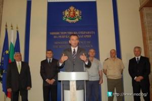 Министърът на отбраната Николай Младенов представи програмата на повереното му ведомство на 7 август тази година в сградата на министерството. ФОТО:МО