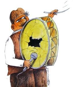 Референдумът за АЕЦ се оказа поредният роден ТУПАН - голям ама празен! Даже и скъп - платен от народа! Карикатура: Анатоли Станкулов