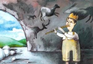 Един кавал оркестър не прави! Карикатура: Анатоли Станкулов