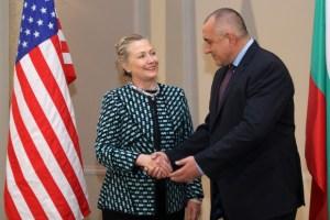 Основните теми, които бяха обсъдени през февруари 2012 г. по време на срещата между премиера Бойко Борисов и държавният секретар на САЩ Хилъри Клинтън бяха двустранното сътрудничество между САЩ и България, ситуацията в региона на Северна Африка и Близкия изток и енергийната сигурност. Припомняме, че срещата