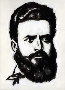 Портрет на Христо Ботев, художник Жечко Попов