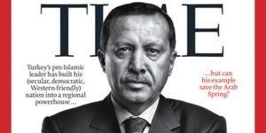 Ердоган на корицата на на борят от декември 20011 на ТАЙМ. Журналистите задават въпросът, дали