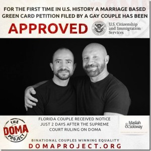 DOMA Bulgarian US 1st green card for gay