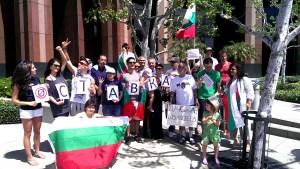 """""""В България мафията си има държава и ние не искаме да сме безучастни в борбата срещу нея на нашите близки и приятели там. Макар и много далече трябва да го направим, колкото и малко  да сме, важното е да сме качествени и мирни. Кой с каквото може и с колкото време разполага. За следващия протест ще се подготвим по-отрано. Ние няма да спрем, без значение, дали някой от управляващите ни обръща внимание в България, или не. Те игнорират собствените си граждани в самата България, така че ние не очакваме и нямаме нужда от тяхното. Ние сами сме си ги извоювали тук. По-важно онези българи по улиците в София и страната да знаят, че някой мисли за тях и навън,"""