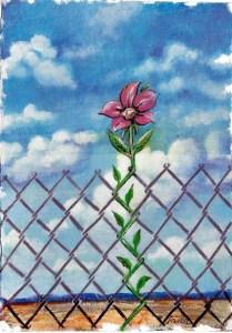 Цвете зад решетките (Flower Behind the Bars) Карикатура: Анатоли Станкулов