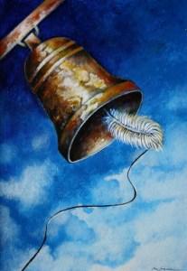 Езичето на камбаната - гласът на народа! Карикатура: Анатоли Станкулов