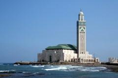The Hassan II Mosque or Grande Mosquée Hassan II (nickname: