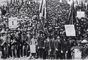 Едно от първите масови чествания на 1 Май е през 1905 г. в
