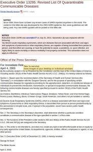 Още през 2003 г. президента Буш е включил Ебола в списък за превенция. (кликнете в/у снимката за по-големи размери)