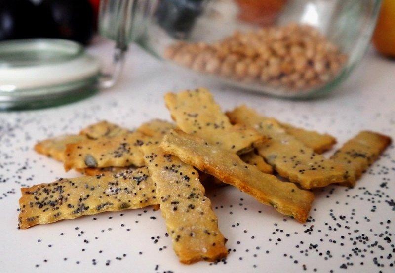 Крекери с нахутено и оризово брашно (без глутен)